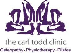 the carl todd clinic logo sans font